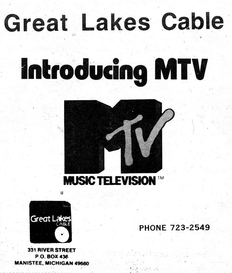 An advertisement for Great Lakes Cable touting the introduction of MTV published in the Feb. 2, 1984 edition of the Manistee High School student newspaper, the Chippewa Herald. Photo: Courtesy Image