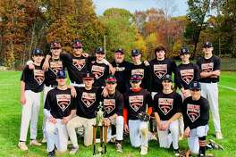 Shelton Gaels Fall Ball earned the Connecticut Elite Baseball Fall Ball championship and finished with a 13-0 record. Team members (front row) are: Spencer Keith, Tommy Connery, Will Berardi, John Riccio, Joseph Ciccone and Benny Van Tine; (second row) Ryan Hafele, Max McLoughlin, Anthony Steele, John Horahan, manager Mike Riccio, Matt Janik, Devin Zak, Andrew Hafele and Ryan Blakslee.
