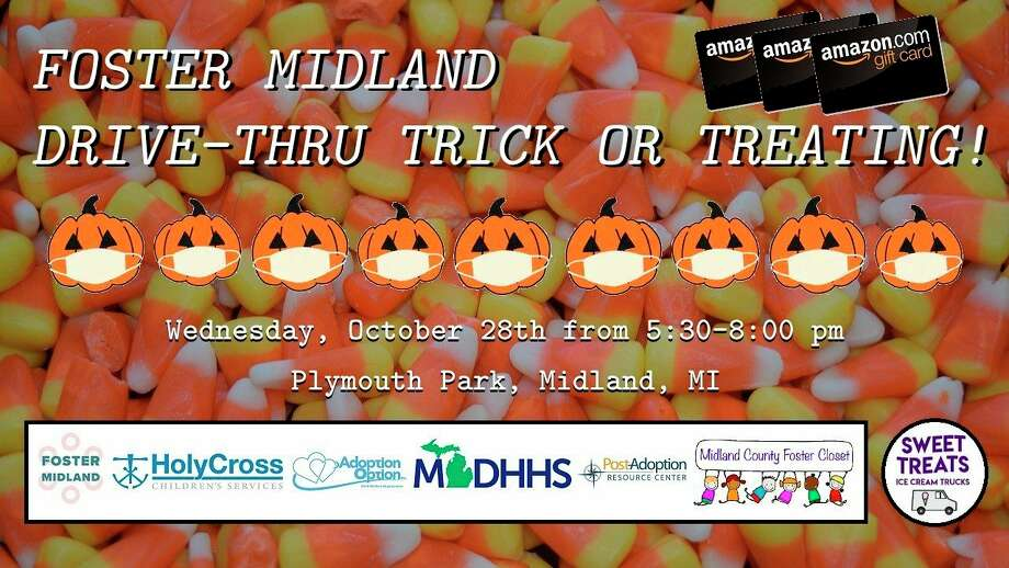 Wednesday, Oct. 28: Halloween Drive-Thru Trick or Treat is set for 5:30 to 8 p.m. at Plymouth Park in Midland. (Photo provided/Facebook events)