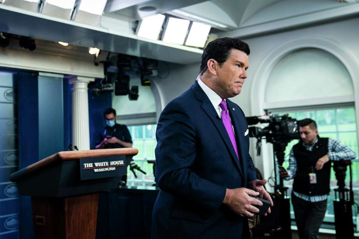 Fox News anchor Bret Baier at the White House in April.