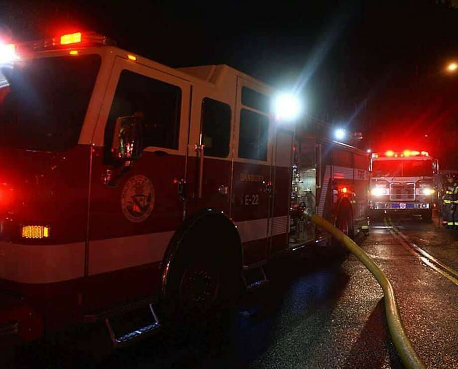 A family of seven has been displaced following a Sunday night fire on Boulevard Drive in Danbury, Conn. Photo: Danbury Fire Department