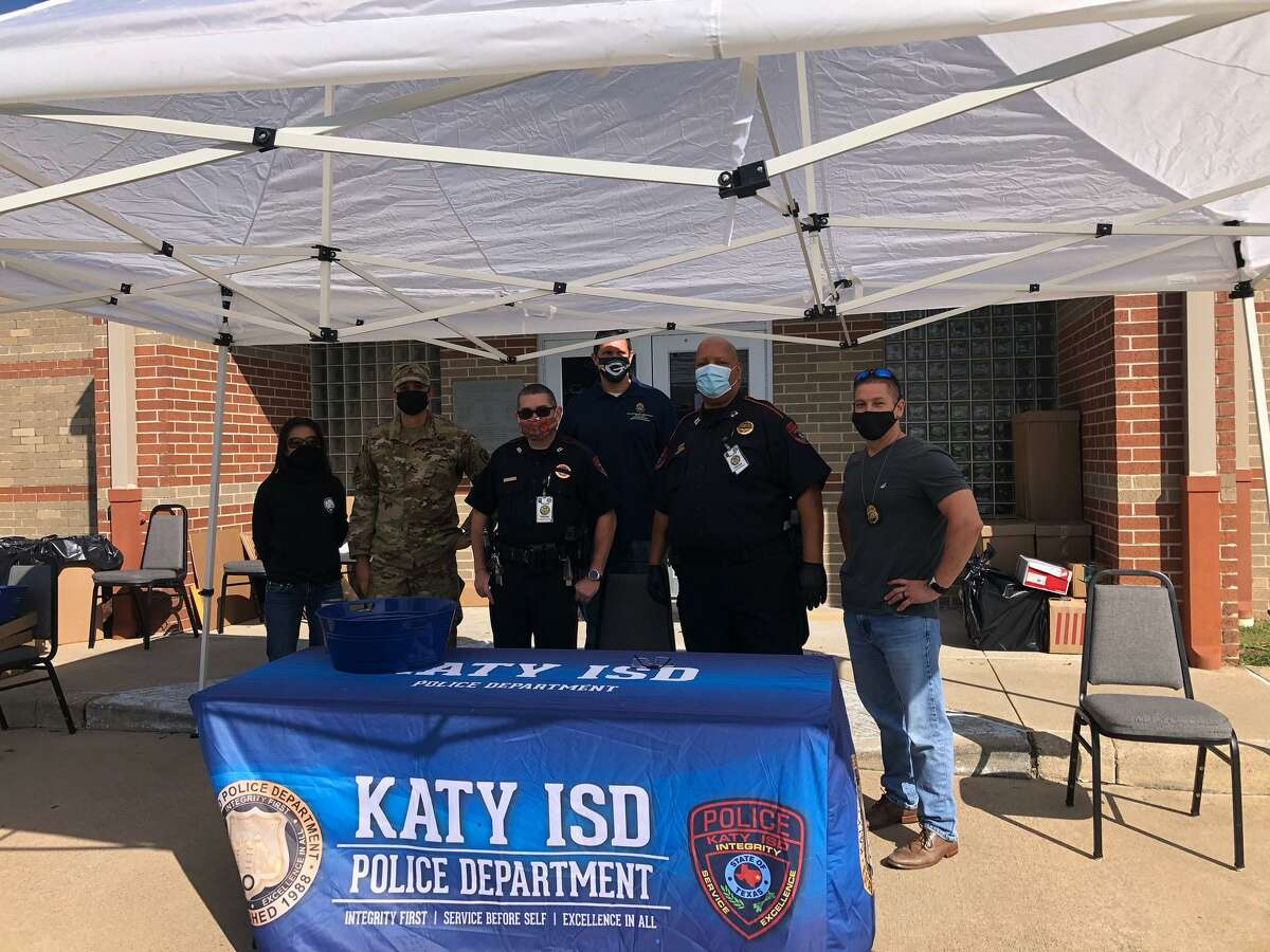 During the 19th Annual National Prescription Drug Take Back event at the Mark L. Hopkins Law Enforcement Center on Saturday, Oct. 24, the Katy Independent School District Police Department collected 39 boxes of unused and expired prescription drugs.