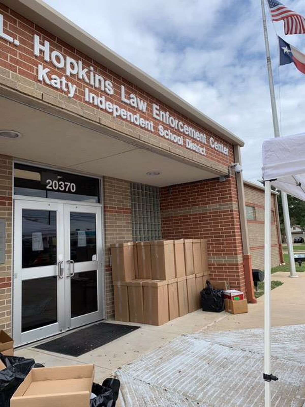 During the 19th Annual National Prescription Drug Take Back event at the Mark L. Hopkins Law Enforcement Center on Saturday, Oct. 24, the Katy Independent School District Police Department collected 39 boxes of unused and expired prescription drugs to be destroyed so they would not pose a health risk.