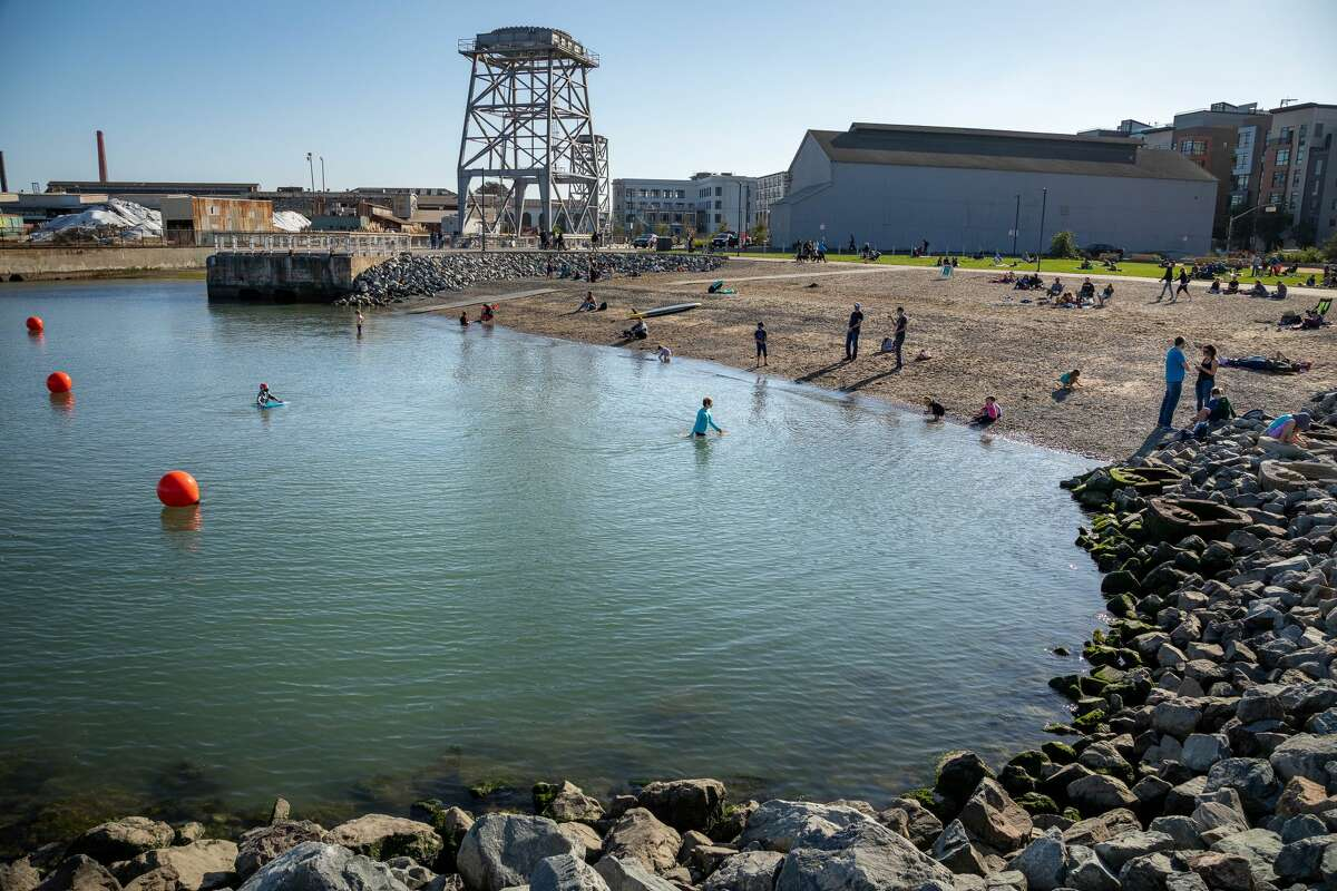 Crane Cove Park is 7 acres of public recreational space along the former industrial shoreline.