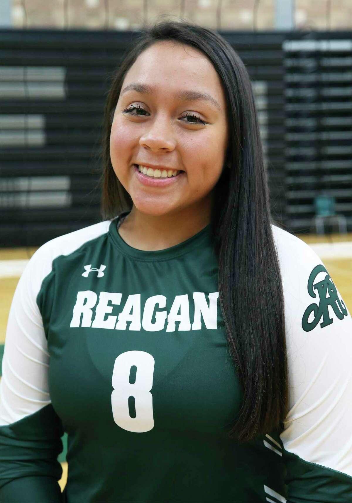 Reagan High School volleyball player Maddie Correa on Sept. 10, 2020.