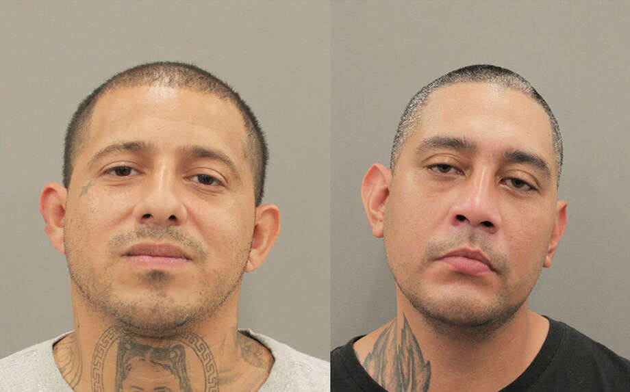 Oscar Garcia, left, and Blas Solis, right, are charged with murder and tampering with evidence in the death of Hunter Penn. Photo: Houston Police Department / Houston Police Department