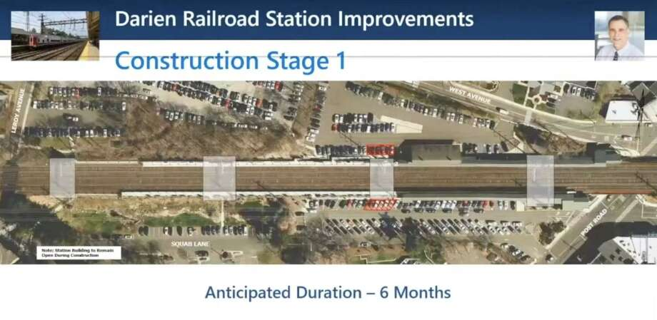 The state Department of Transportation recently held a presentation and answered questions about the planned renovation of the Darien Train Station, currently scheduled for February 2022. Photo: DOT