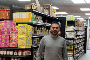 Owner Tahir Sial in his new Aladdin Halal Market in Latham. (Provided photo.)