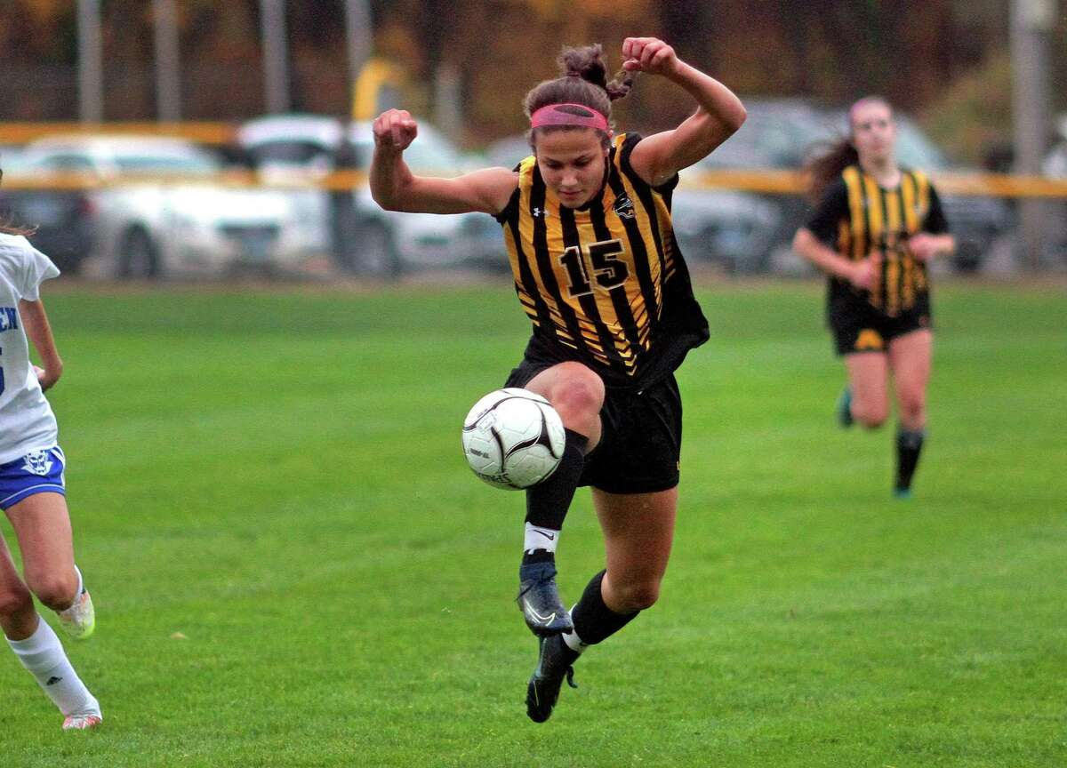 Amity's Audrey Marin had four assists in a win over West Haven.