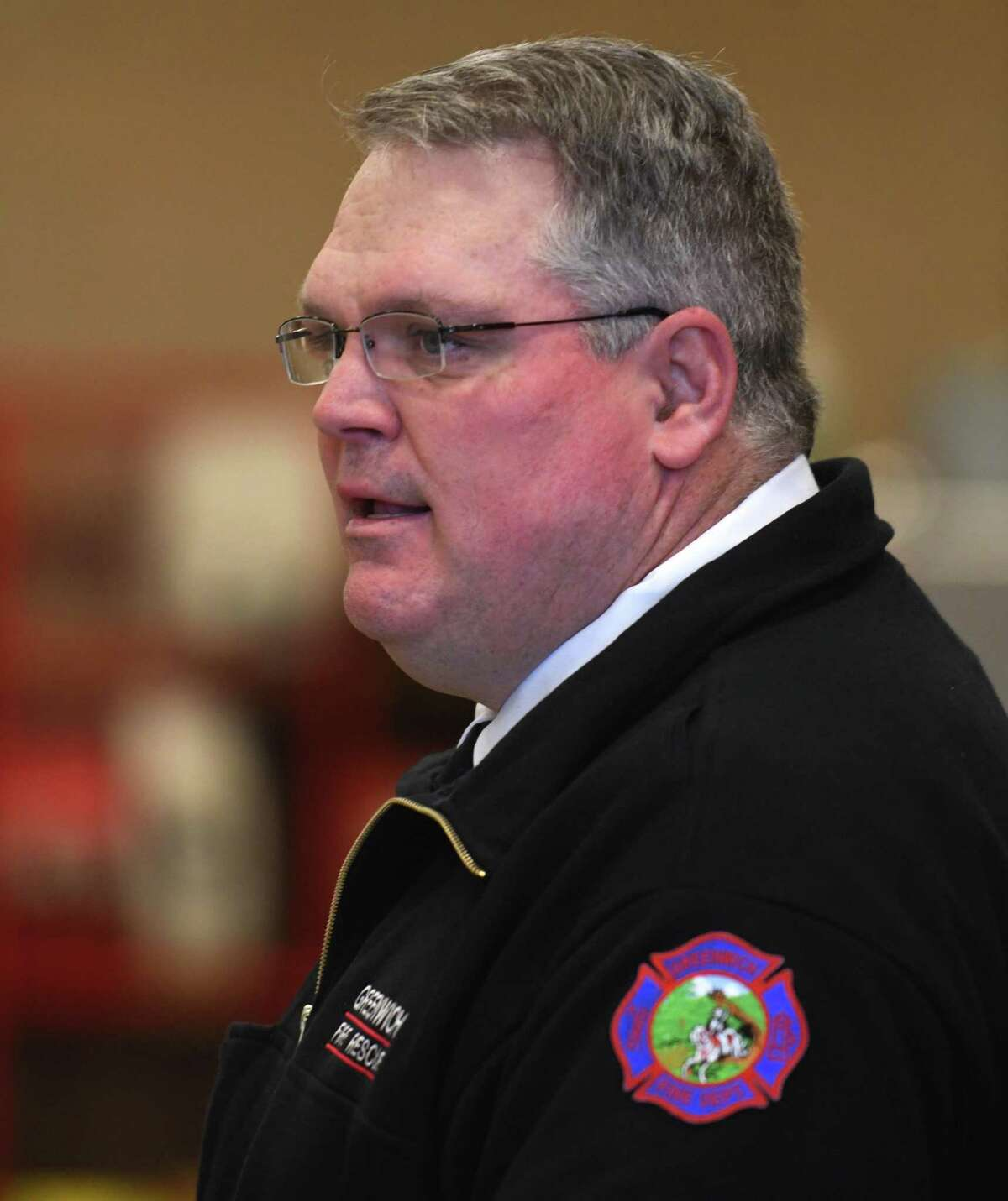 Greenwich Fire Chief Joseph McHugh presented the results of an internal departmental review to the Board of Selectmen on Thursday.