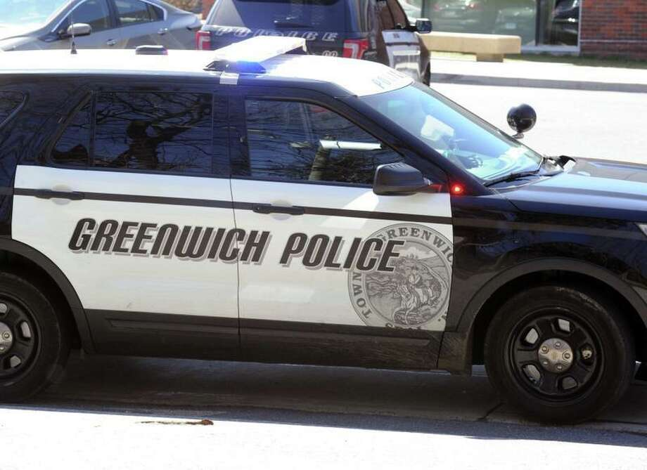 A police car from the Greenwich police department Photo: File / Hearst Connecticut Media