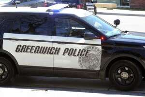 A police car from the Greenwich police department
