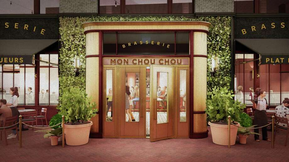 Exterior rendering of Brasserie Mon Chou Chou, which will open with a menu of classic French comfort food at the Pearl in November. Photo: Pearl