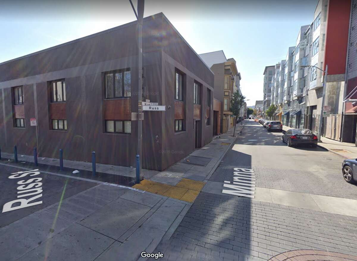 The intersection of Minna and Russ in San Francisco's SoMa.