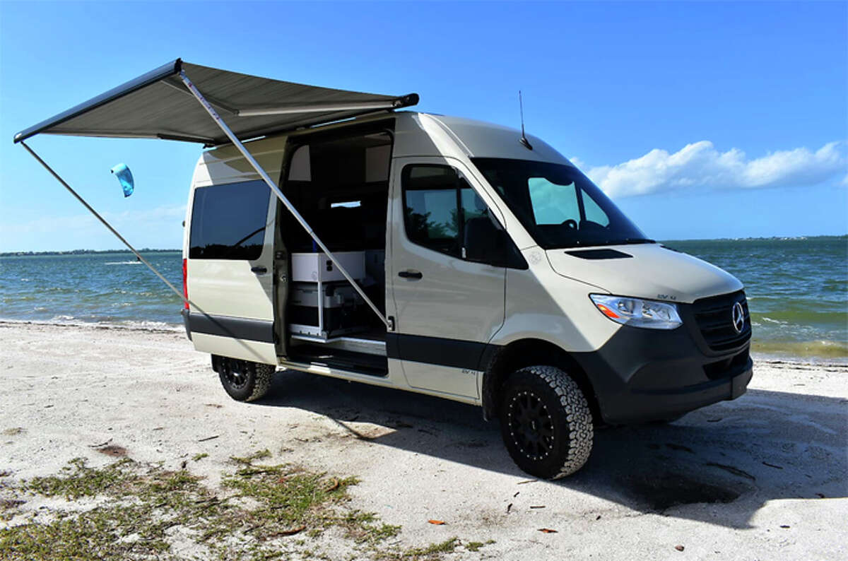 Two people can get by with a Class B rental camper van.