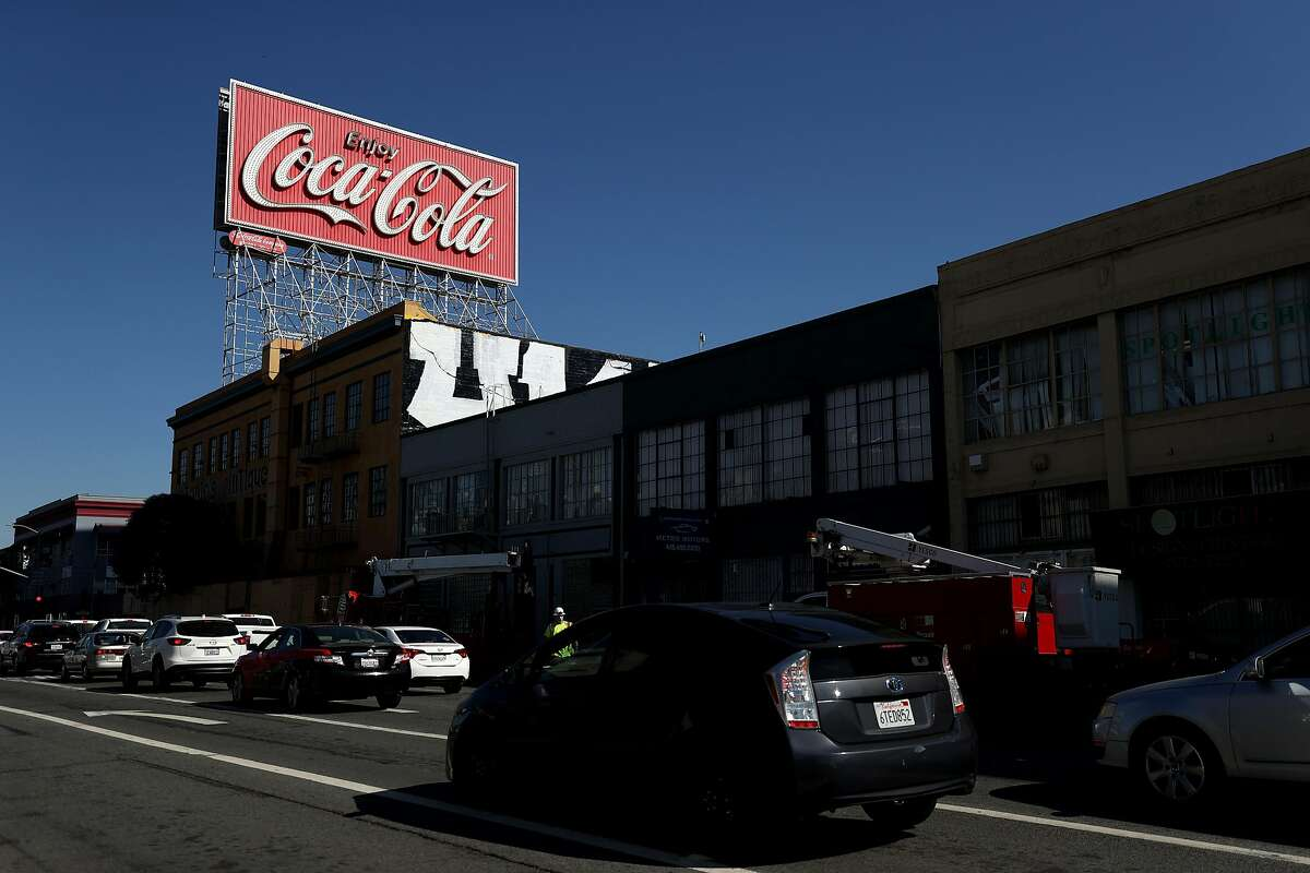 SAN FRANCISCO, CALIFORNIA - OCTOBER 26: A view of a Coca-Cola billboard in the South of Market Area on October 26, 2020 in San Francisco, California. A Coca-Cola billboard that has been park of San Francisco's South of Market landscape since 1937 is slated to be taken down by the Coca-Cola company. The removal will cost an estimated $100,000. (Photo by Justin Sullivan/Getty Images)