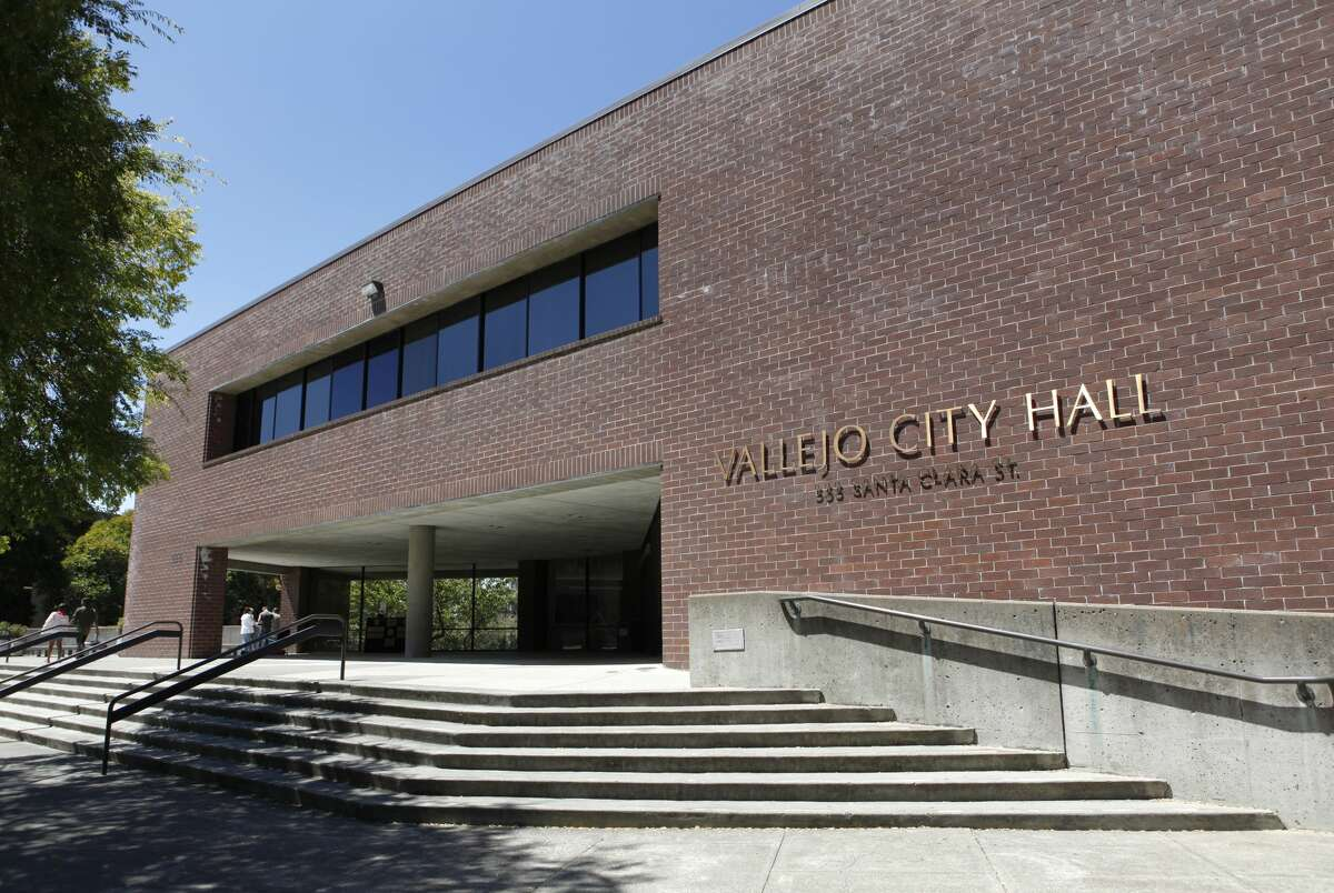 A file photo shows the exterior of Vallejo City Hall.