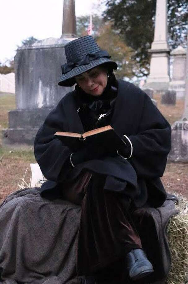 Gunn Historical Museum's Washington Cemetery Tour was performed and recorded in advance this year and will be posted online for Halloween. Above, Bibiana Andreli portrays Abigail Gunn in a past tour. Photo: Contributed Photo / Contributed Photo / The News-Times Contributed