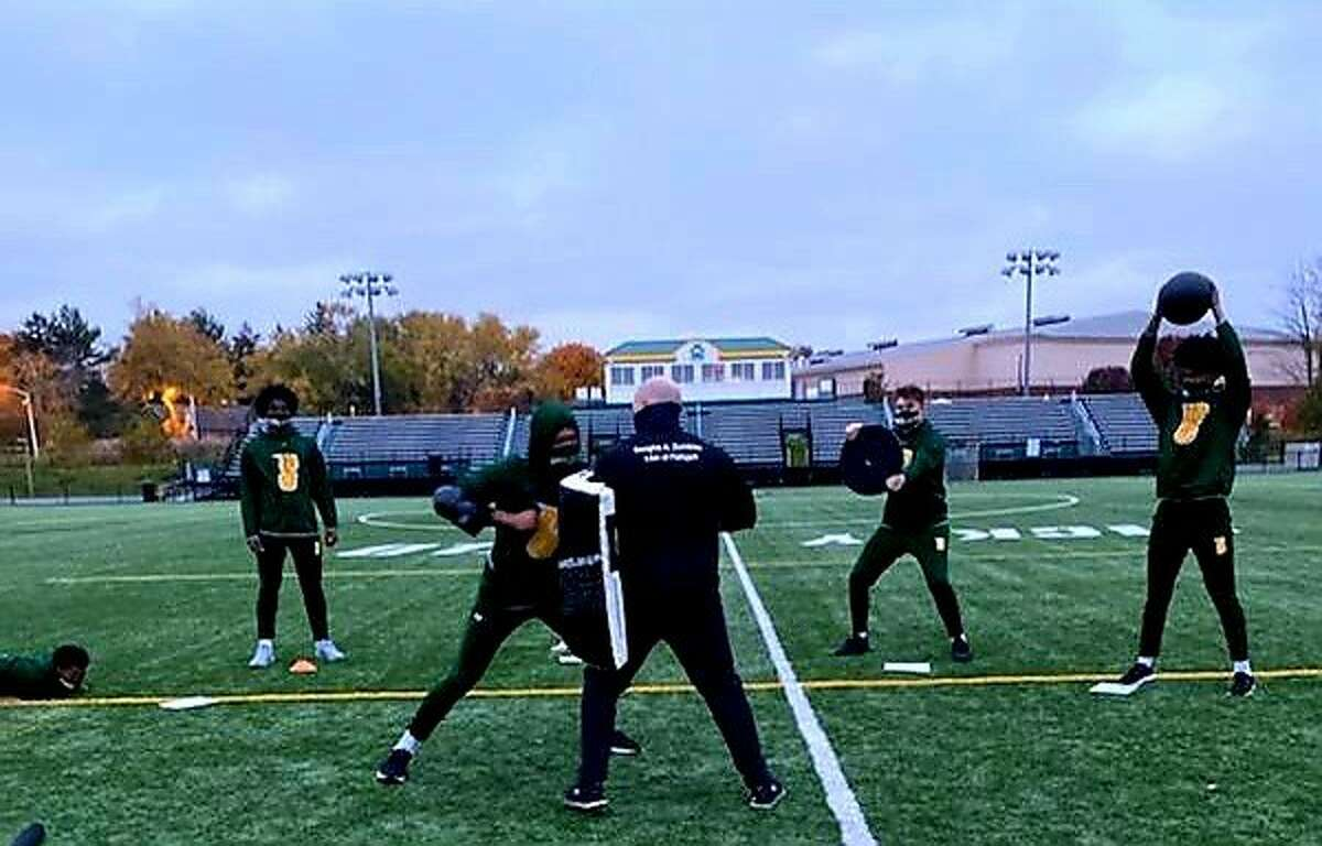 Siena players go through a workout at The Program. (Courtesy of The Program)