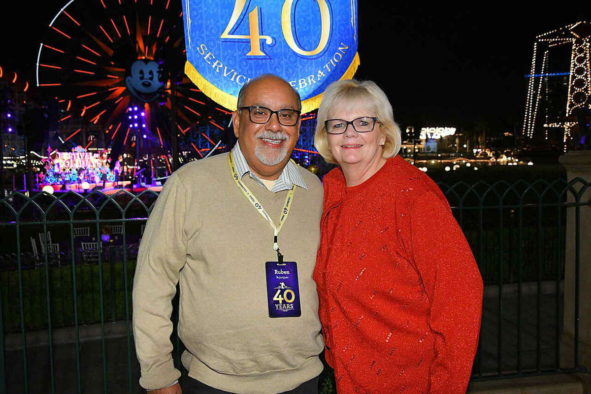 Theresa and Ruben Bojorquez at his 40th anniversary celebration of being a cast member.