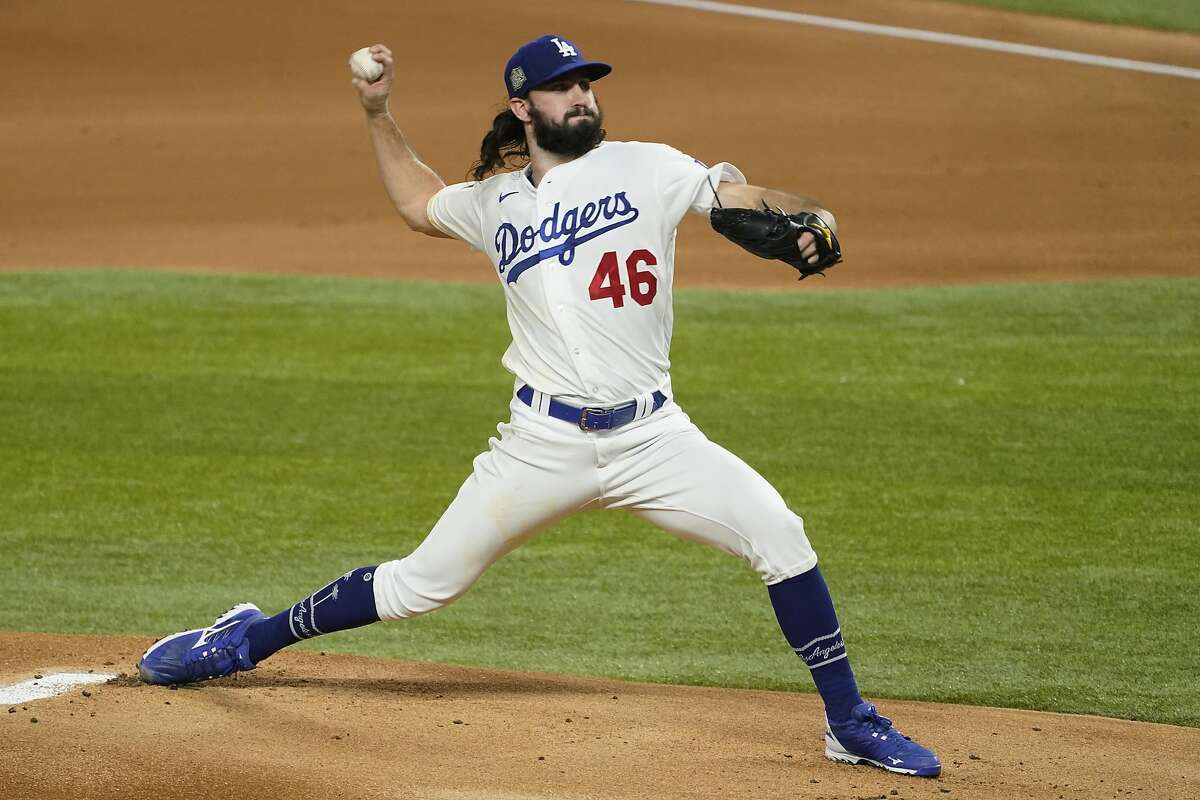 Dodgers rookie right-hander Tony Gonsolin, who went to St. Mary's, started Game 2 of the World Series on Wednesday.