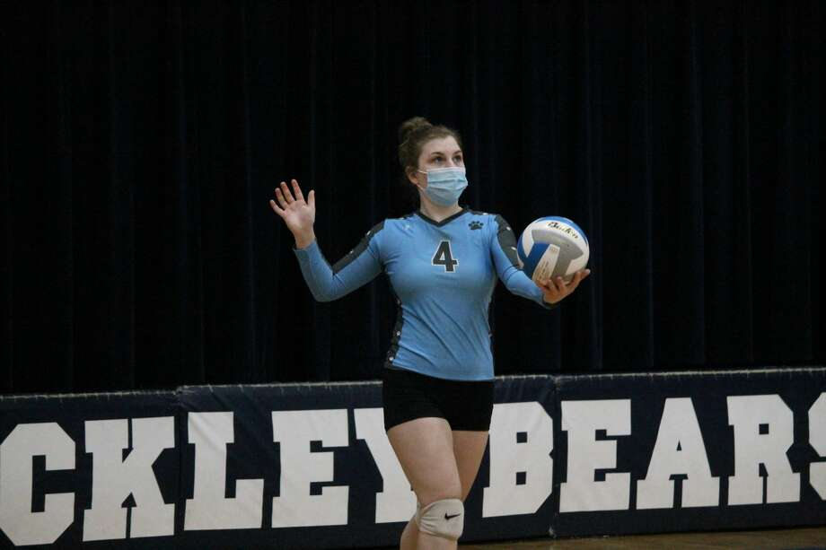 The Brethren Bobcats take on Buckley in a road volleyball match on Oct. 26. Photo: Robert Myers