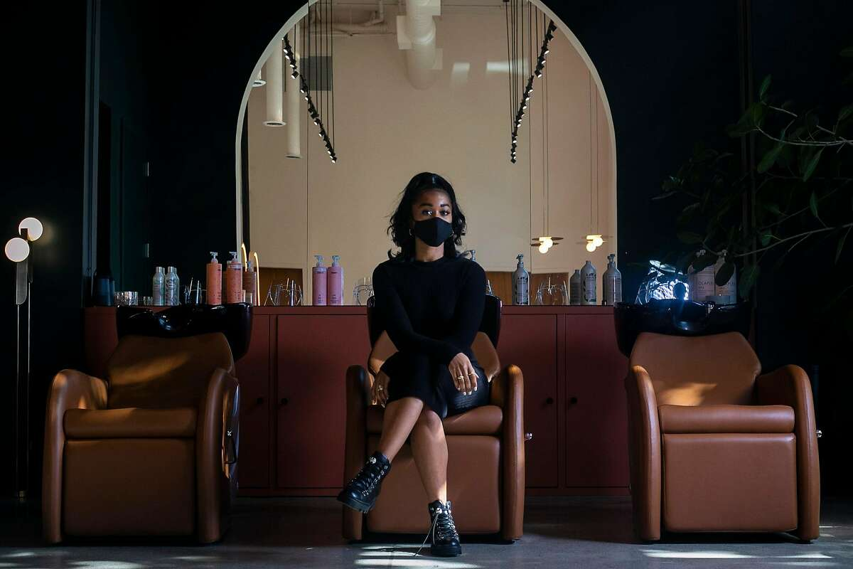 GoodBody salon owner Brittany Barnes at her Oakland shop.