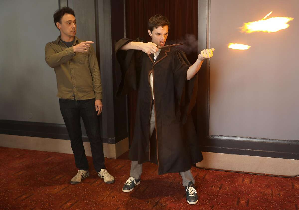 """""""Harry Potter and the Cursed Child"""" actors John Skelley (left) and Benjamin Papac at Curran Theater."""