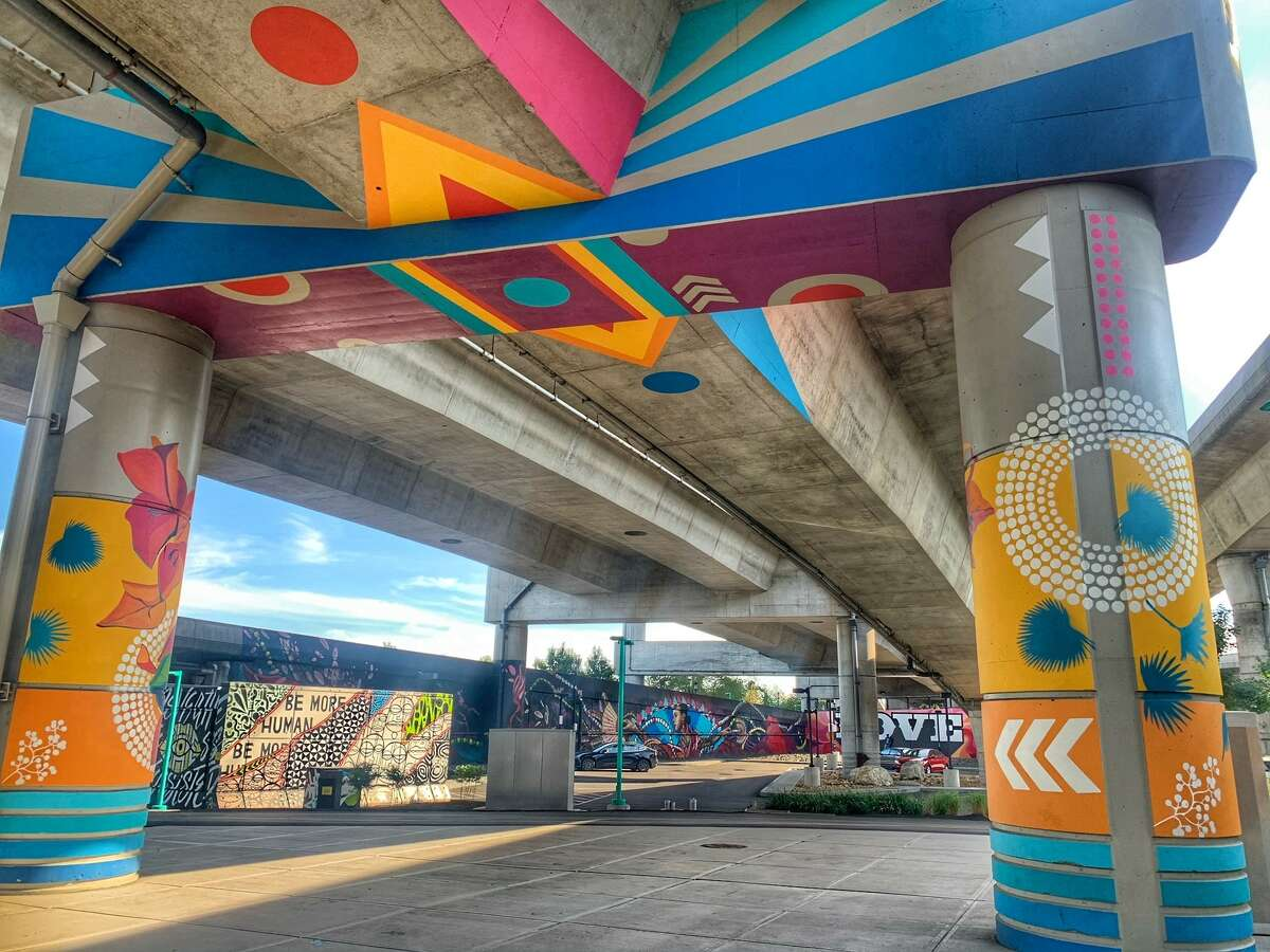 Underpasses in Boston have turned technicolor in this public art display.