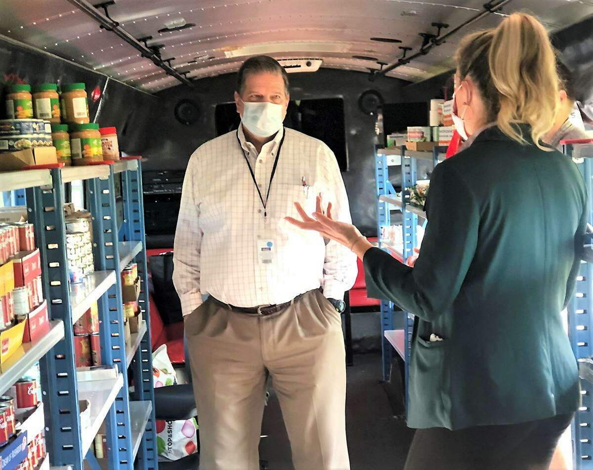 Stop & Shop recently donated $5,500 to the Middlesex Community College Food Pantry in Middletown - known as the Magic Food Bus.