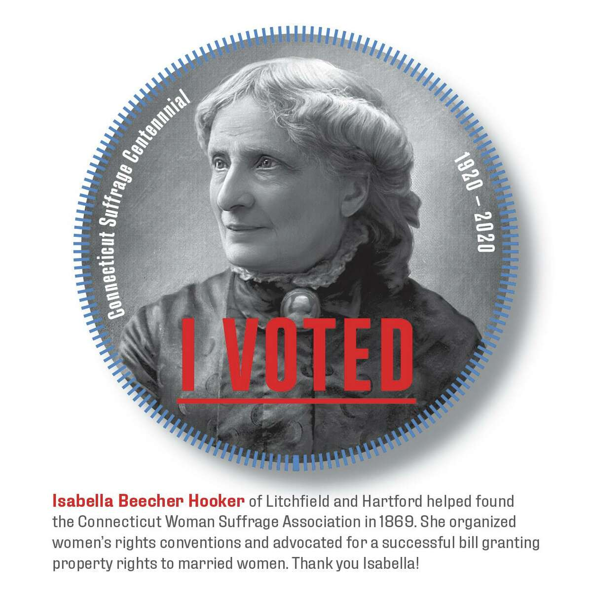 An early proponent of women's suffrage, Isabella Beecher Hooker did not live to see passage of the 19th Amendment.