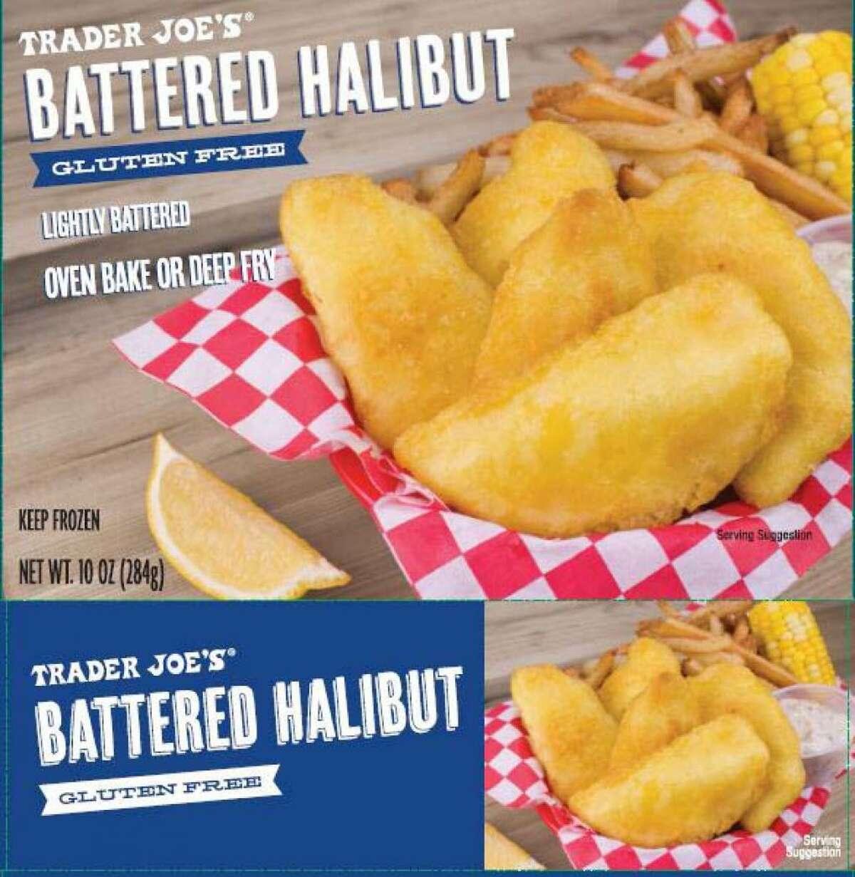 Trader Joe's Battered Halibut label. Orca Bay Foods of Seattle is recalling Trader Joe's brand Gluten Free Battered Halibut SKU