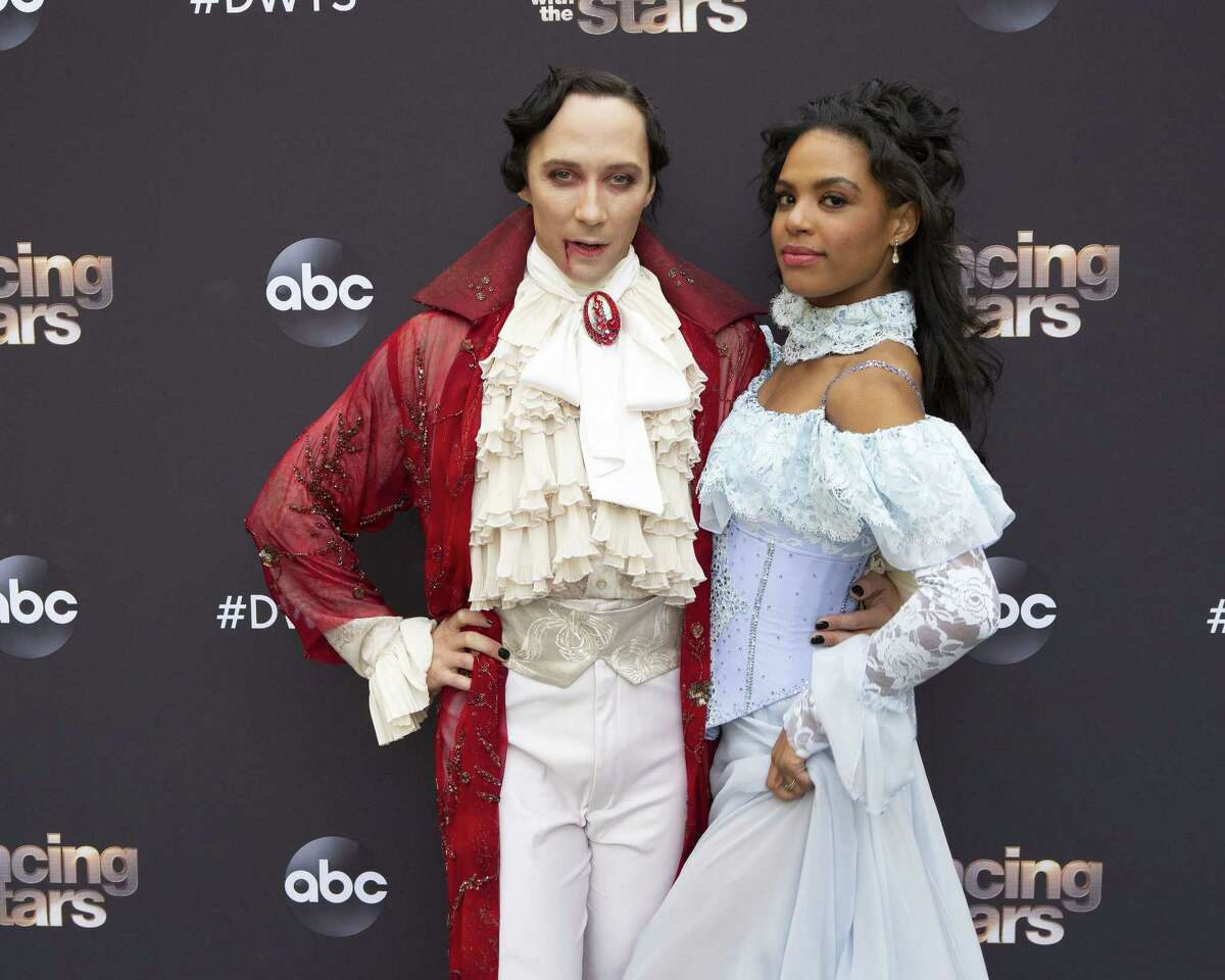Johnny Weir: For his Dancing With the Stars performance this week, Johnny Weir dressed up as a vampire alongside his partner, Britt Stewart.