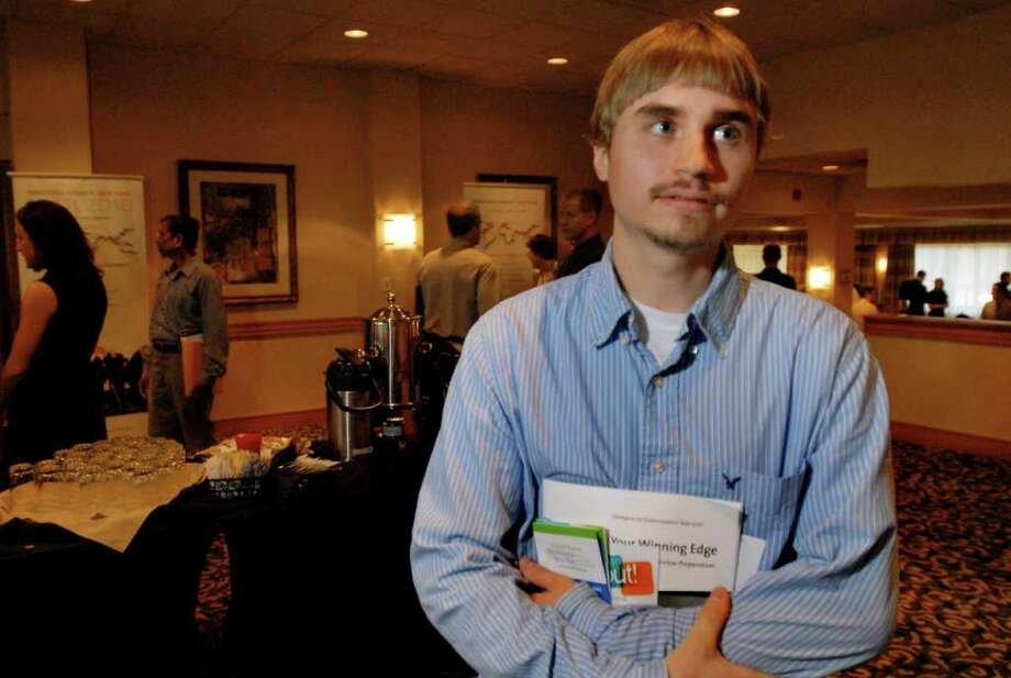 Jeff Bray, 27, of Colonie attends Global Foundries job fair on Tuesday, Aug. 31, 2010, at Holiday Inn Turf Hotel in Colonie, N.Y. (Cindy Schultz / Times Union) Photo: Cindy Schultz / 00010073A