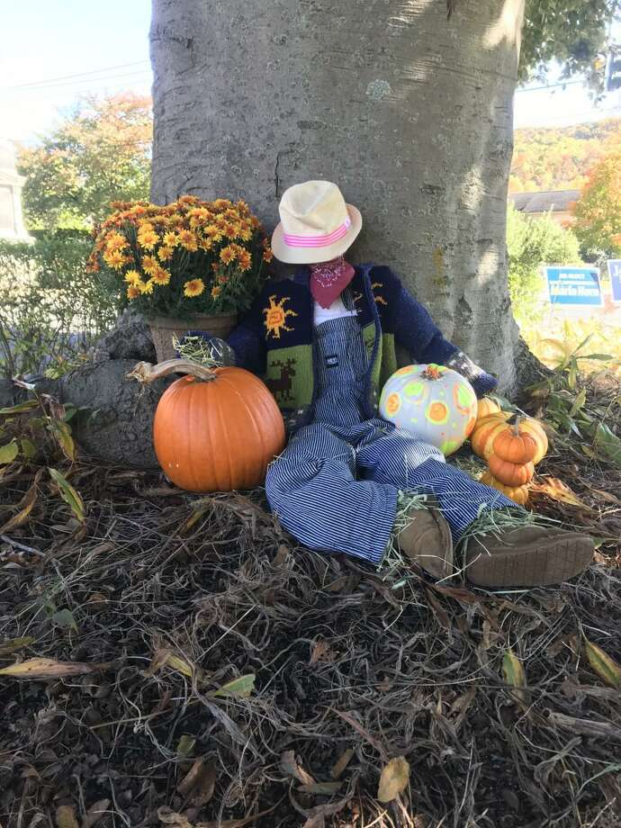 Kent Center School PTO is presenting a town-wide scarecrow contest. Entries must be submitted by Nov. 1. Above is the scarecrow the Hamill family of Kent made. Photo: Courtesy Of Bronwyn Hamill / Danbury News Times Contributed