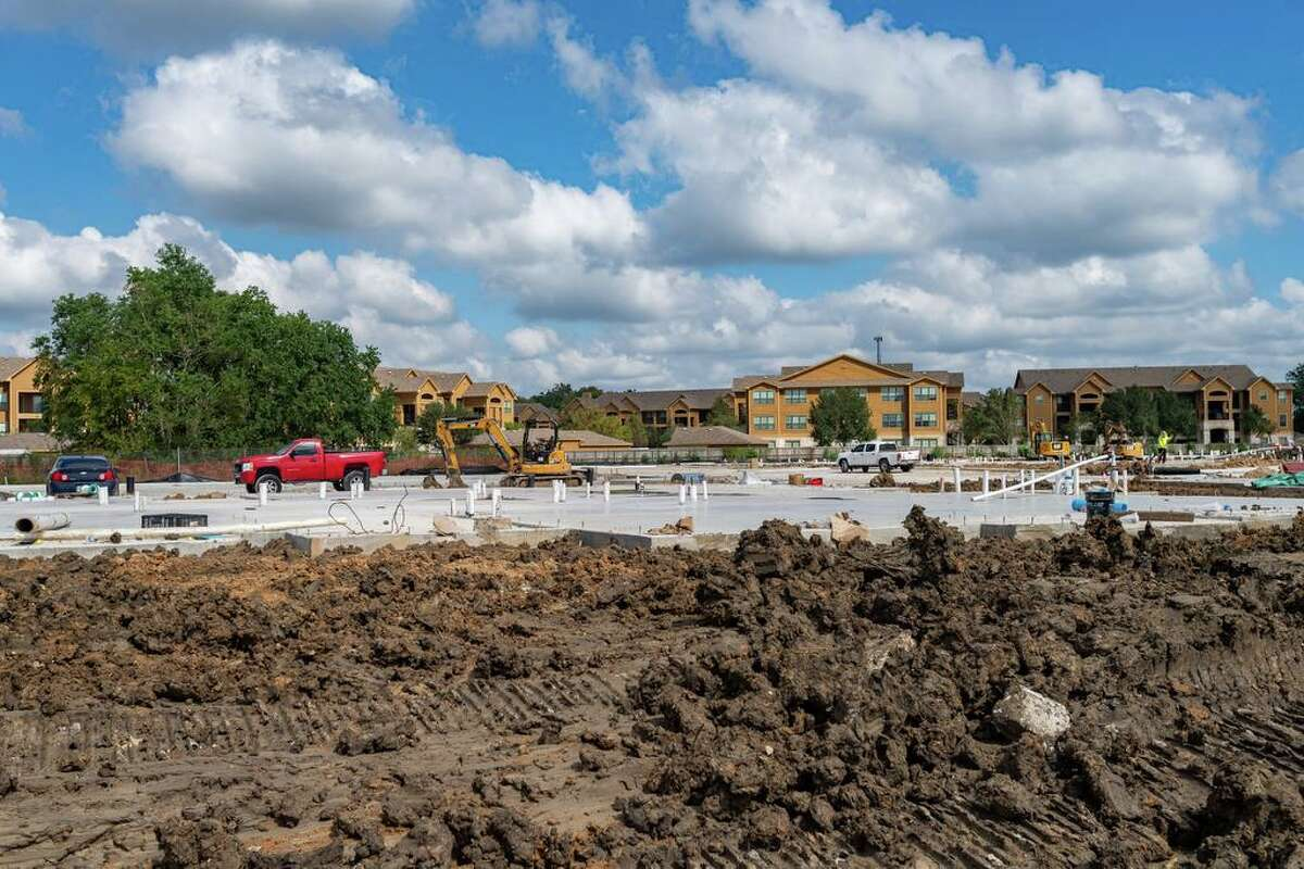 Work is well-underway on Delta Manor, a large apartment complex located behind the Parkdale Mall at 5740 Northwest Parkway. Beaumont usually sees about one apartment project per year. This year, seven are currently underway. Photo made on October 21, 2020. Fran Ruchalski/The Enterprise