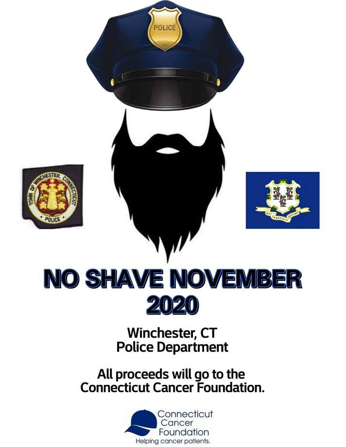 Winsted police officers are growing beards as a fundraiser in November and December. Photo: Contributed Photo