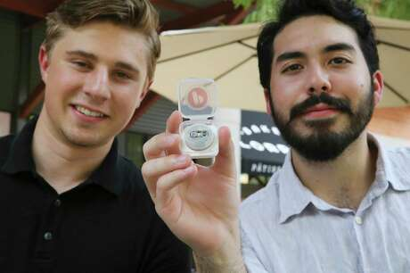 Gavin Buchanan and Andrew Aertker, Trinity University student entrepreneurs, created a smart prescription medication cap system that is being marketed to pharmacies as a way to boost drug adherence.