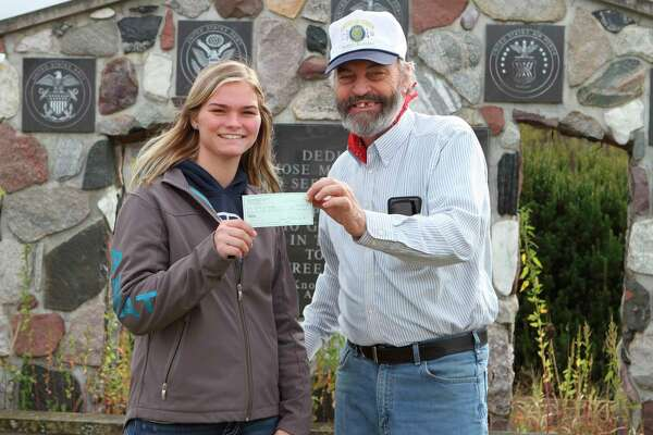The Sons of the American Legion Post No. 554 in Morley raised more than $4,000 to help offset medical expenses for Ellie Kinnee. Kinnee said she is grateful to everyone who hosted and attended the event and who have shown her support and encouragement. (Pioneer photo/Taylor Fussman)
