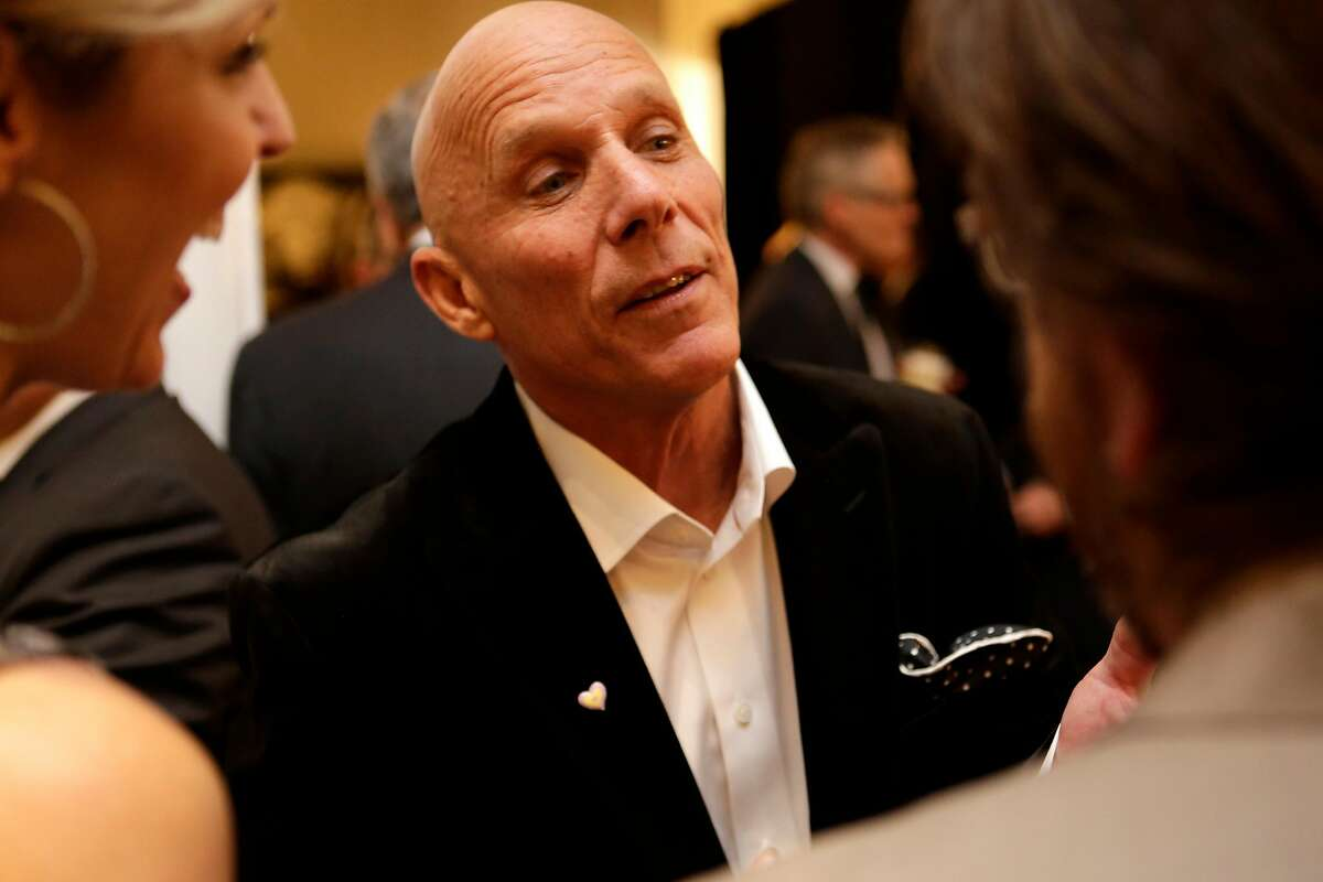 Former Giants third base coach Tim Flannery talks with other guests at the inaugural Coaching Corps Game Changer Awards at the Ritz-Carlton in San Francisco on Thursday, Feb. 5, 2015.