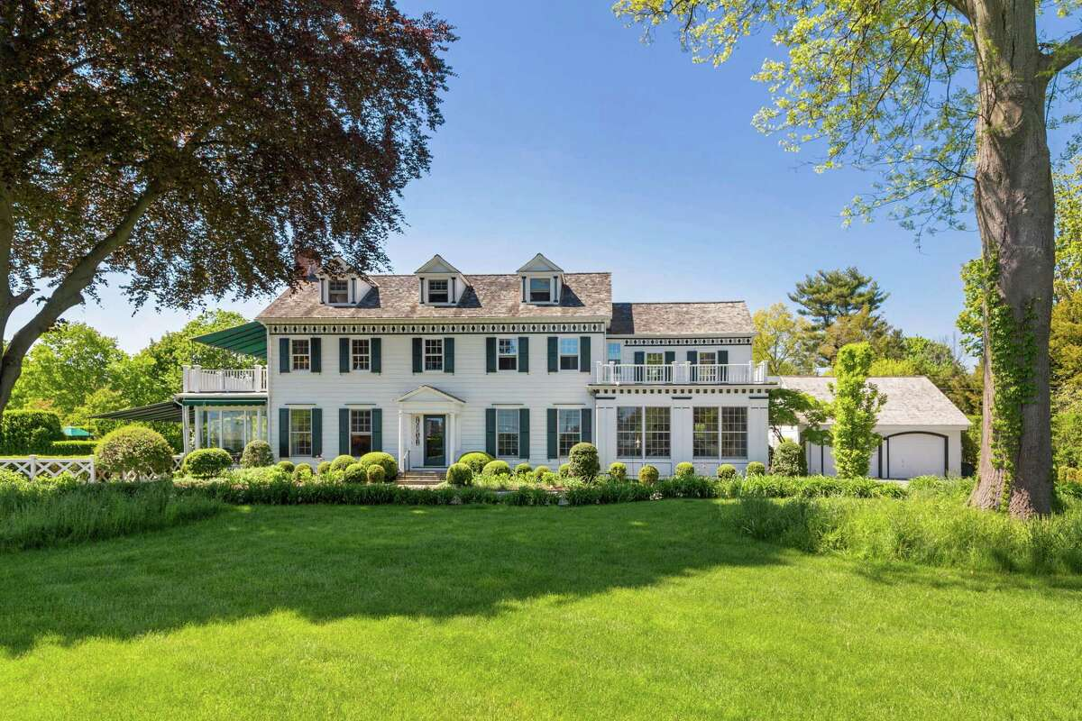 The colonial house at 1252 Pequot Avenue was built in 1929 for relaxed beachside living as well as living and entertaining in grand style, which still holds true today.