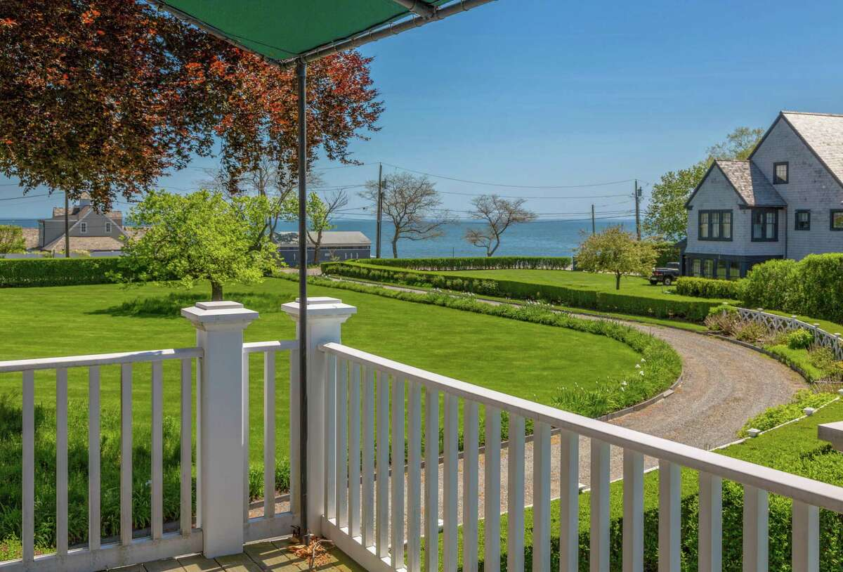 The balcony/deck off the master bedroom suite has a bird's eye view of the semi-circular carriage driveway lined with perennial flower gardens and Long Island Sound. Should anyone wish to leave this beautiful compound they will find local conveniences only minutes away. This house is close to the Pequot Yacht Club, Southport Village, the Metro North Railroad train station, and Pequot Library. Nature lovers, hikers and birdwatchers have their choice of four places, all practically part of their own backyard. The municipal Southgate Lane Open Space and a parcel of property managed by the Aspetuck Land Trust are both in Fairfield. The H. Smith Richardson Wildlife Preserve and conservation land protected by the Connecticut Audubon Society off Hedley Farm Road are both in neighboring Westport, literally just steps away. For about a decade, interest in antique houses had dwindled but in the last year homebuyers have exhibited much more interest in purchasing and preserving vintage residences. However, the agents point out, if a vintage structure is not your preference, this two-acre estate property offers an unusual opportunity to build your dream coastal Connecticut home, with options to include a guest or gate house, or maybe a tennis court.