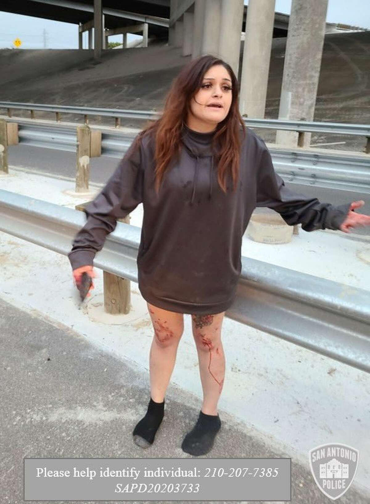 San Antonio police are asking the public to help identify a woman in connection with a fatal accident on the East Side Saturday morning. The woman they are searching for is in the photo.