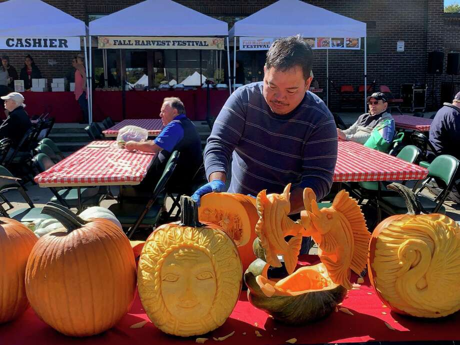 Kelly's Crystals on Main Street, Torrington, is welcoming professional pumpkin carver Resty Nombrado to the store from 5-8 p.m. Oct. 29. Photo: Contributed Photo /