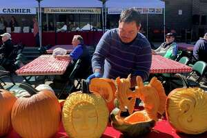 Kelly's Crystals on Main Street, Torrington, is welcoming professional pumpkin carver Resty Nombrado to the store from 5-8 p.m. Oct. 29.