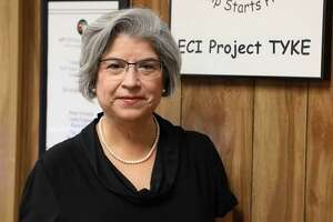 """Martha Aki, director of Katy Independent School District's Early Childhood Intervention Project TYKE program, has been working with the program for 28 years. She is set to retire in December. On Monday, Oct. 26, a naming advisory committee recommended that the former L.D. Robinson Pavilion be named """"Martha Aki ECI Project TYKE."""""""