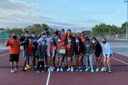 The United tennis team won the bi-district title this season after it defeated San Antonio Harlan 16-3 Monday.