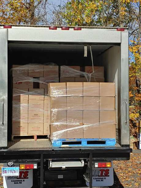 Food for Victory Christian Center's pantry in Danbury was delivered Monday in a new, refigerated truck purchased with a $50,000 donation. Photo: / Contributed Photo