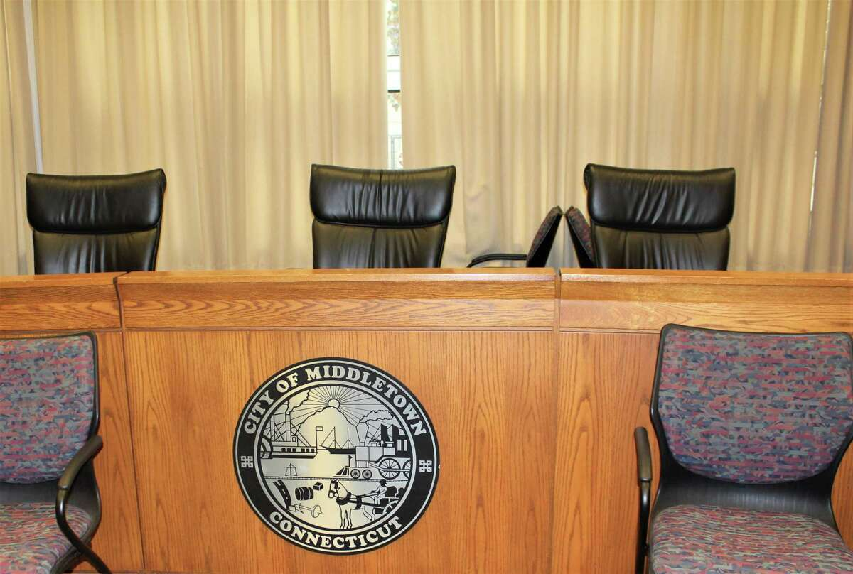 Middletown Common Council chambers is located at City Hall, 245 deKoven Drive.