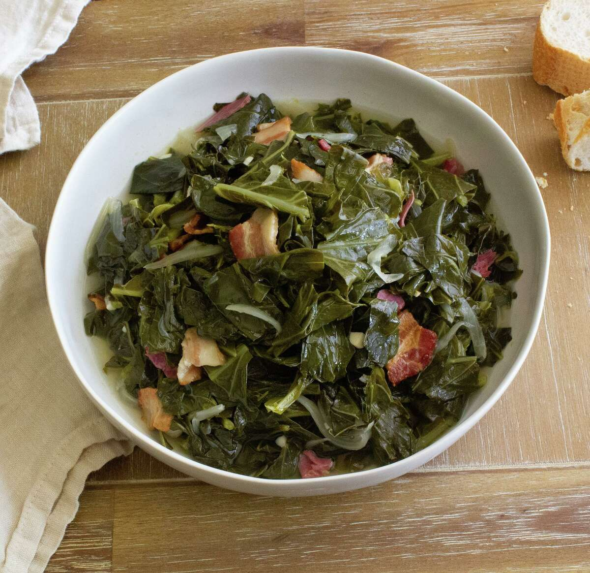 Side dishes such as collard greens have helped make Gatlin's BBQ one of Houston's favorite smoked meat joints.